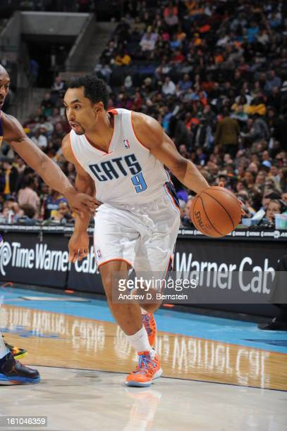Gerald Henderson of the Charlotte Bobcats drives against the Los Angeles Lakers on February 8 2013 at the Time Warner Cable Arena in Charlotte North...
