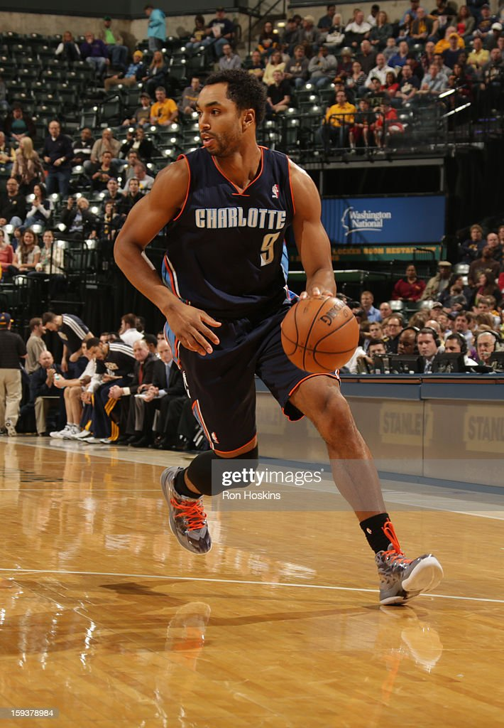 Gerald Henderson #9 of the Charlotte Bobcats drives the ball during the game between the Indiana Pacers and the Charlotte Bobcats on January 12, 2013 at Bankers Life Fieldhouse in Indianapolis, Indiana.