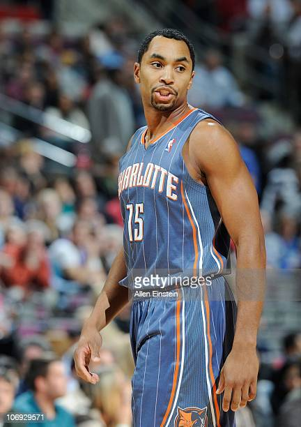 Gerald Henderson of the Charlotte Bobcats walks on the court during a game against the Detroit Pistons on November 5 2010 at The Palace of Auburn...