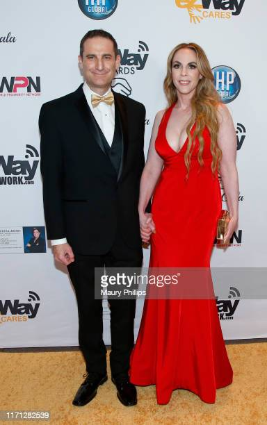 Gerald Kane and Karen Dabby attend the eZWay Awards Golden Gala at Center Club Orange County on August 30 2019 in Costa Mesa California