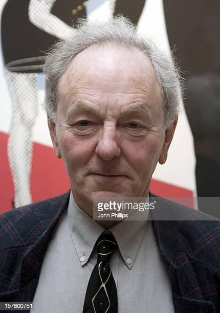 Gerald Laing During His Graphics Exhibition At Morton Metropolis London