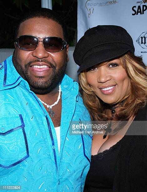 Gerald LeVert and Kym Whitley during Sapporo 42 Below Presents Jaime Pressly and Hill Harper's AdoptASchool Initiative at RJ Cutler's Estate in Los...