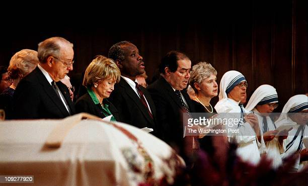 3/28/98 Gerald Martineau/The Washington Post St Thomas More Cathedral of Arlington VA Bishop Keating s Funeral People in attendence to pay respects...