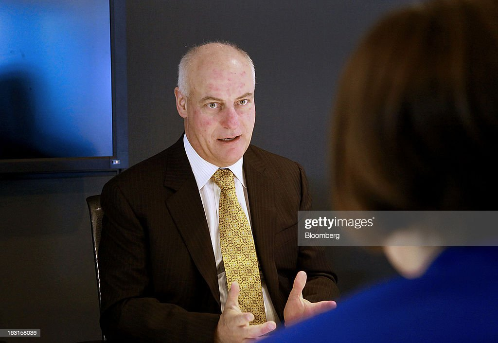 Gerald Panneton, chief executive officer of Detour Gold Corp., speaks during an interview in Toronto, Ontario, Canada, on Tuesday, March 5, 2013. Detour Gold Corp. explores for and produces gold in Canada. Photographer: Reynard Li/Bloomberg via Getty Images