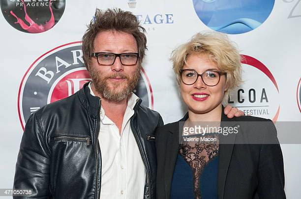 Gerald Portenart and Louna Portenart arrive at COLCOA French Film Festival Barnes After Party at Heritage Fine Wines on April 24 2015 in Beverly...