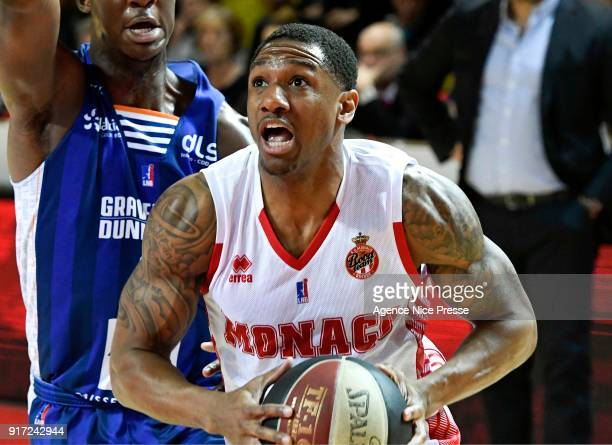 Gerald Robinson of Monaco during the Pro A match between Monaco and Gravelines Dunkerque on February 11 2018 in Monaco Monaco