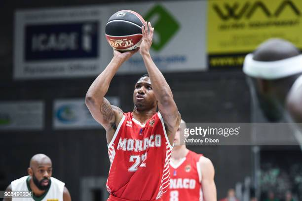 Gerald Robinson of Monaco during the Pro A match between Nanterre 92 and Monaco on January 21 2018 in Nanterre France