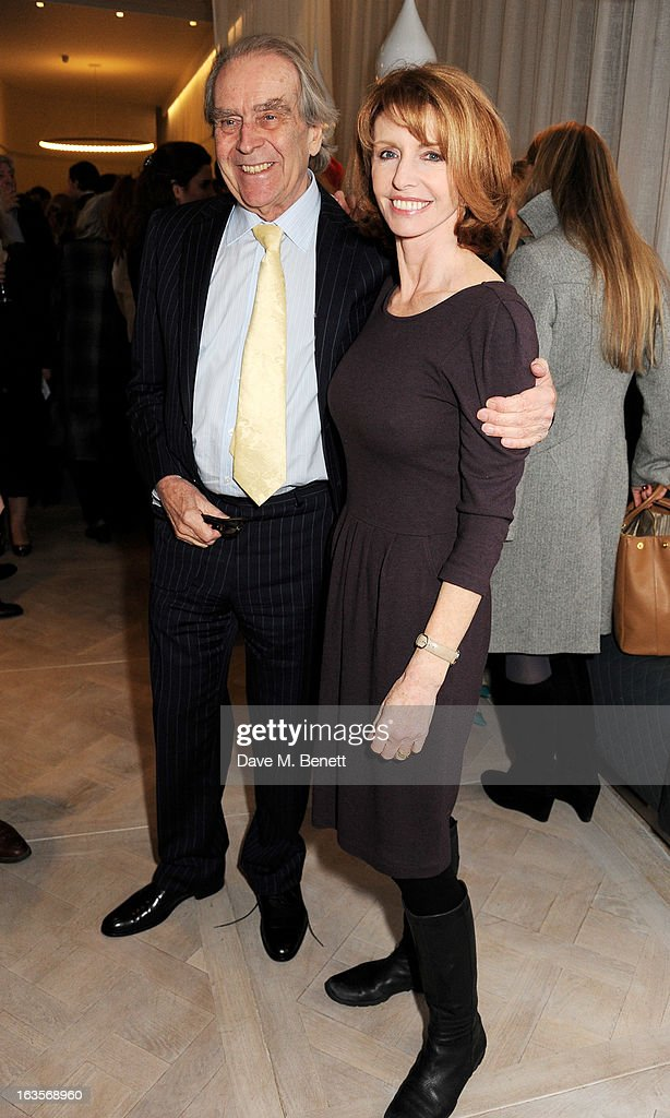 Gerald Scarfe (L) and Jane Asher attend the launch of Louise Fennell's new book 'Fame Game' at Grace Belgravia on March 12, 2013 in London, England.