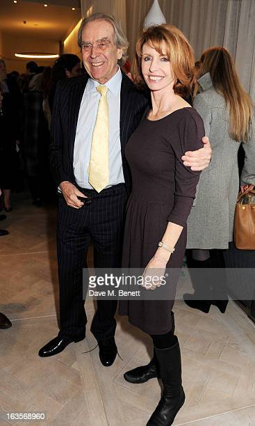 Gerald Scarfe and Jane Asher attend the launch of Louise Fennell's new book 'Fame Game' at Grace Belgravia on March 12 2013 in London England