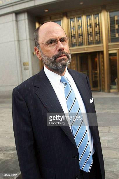Gerald Shargel, attorney for Mark Dreier, leaves Federal District Court following the sentencing of his client to 20 years in prison in New York,...