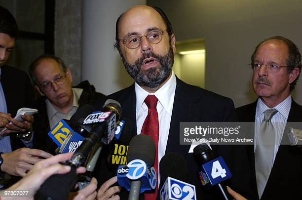 Gerald Shargel Daniel Pelosi lawyer talks to reporters at court