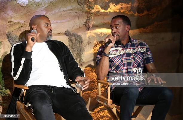 Gerald 'Slink' Johnson and Jeff Johnson attend BET Network's 'Mancave' Event at Goya Studios on February 16 2018 in Los Angeles California