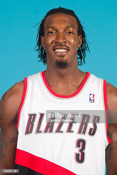 Gerald Wallace of the Portland Trail Blazers poses for a portrait during Media Day on December 16 2011 at the Rose Garden Arena in Portland Oregon...