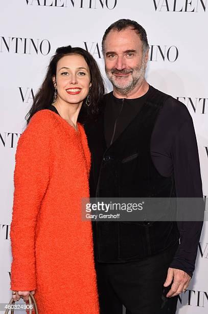 Geraldina Ferri and Fabrizio Ferri attend the Valentino Sala Bianca 945 Event on December 10 2014 in New York City