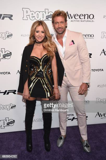Geraldine Bazan and Gabriel Soto arrive at People en Espanol's 50 Most Beautiful Gala 2017 at Espace on May 16 2017 in New York City