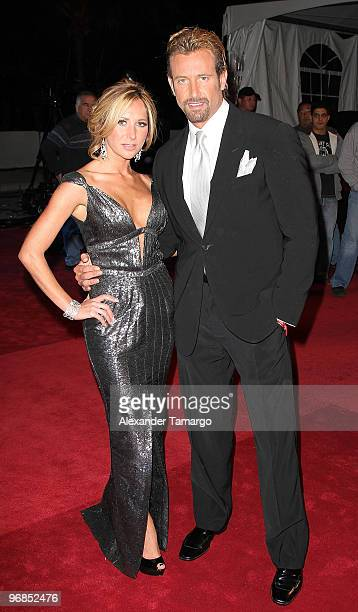 Geraldine Bazan and Gabriel Soto arrive at Univisions 2010 Premio Lo Nuestro a La Musica Latina Awards at American Airlines Arena on February 18 2010...