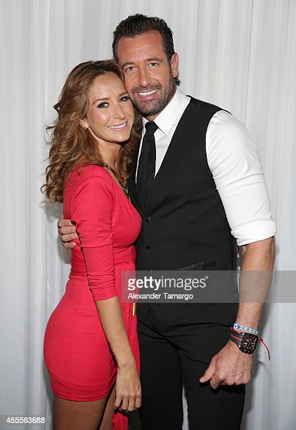 Geraldine Bazan and Gabriel Soto attend The Israel Ministry of Tourism Reception at Briza on the Bay on September 16 2014 in Miami Florida