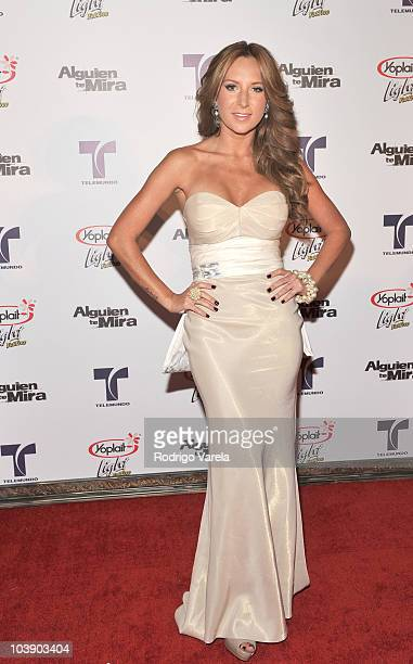 Geraldine Bazan attends screening of Telemundo's Alguien Te Mira at The Biltmore Hotel on September 7 2010 in Coral Gables Florida
