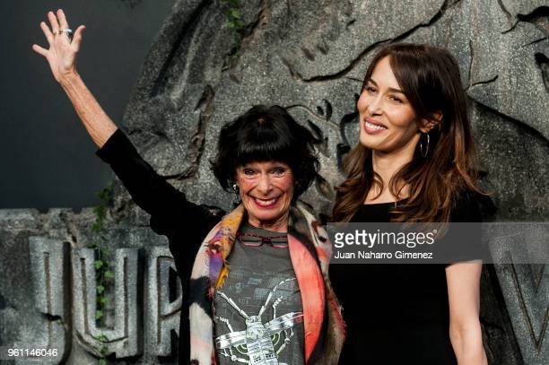 Geraldine Chaplin and Dolores Chaplin attend the 'Jurassic World Fallen Kindom' premiere at Wizink Center on May 21 2018 in Madrid Spain