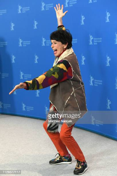 Geraldine Chaplin poses at the La Fiera Y La Fiesta photocall during the 69th Berlinale International Film Festival Berlin at Grand Hyatt Hotel on...