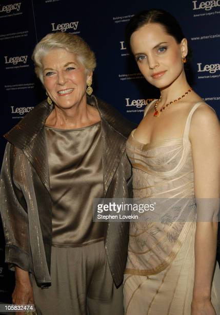 Geraldine Ferraro and Mena Suvari during 2nd Annual American Legacy Foundation Honors Gala at Cipriani's in New York City New York United States