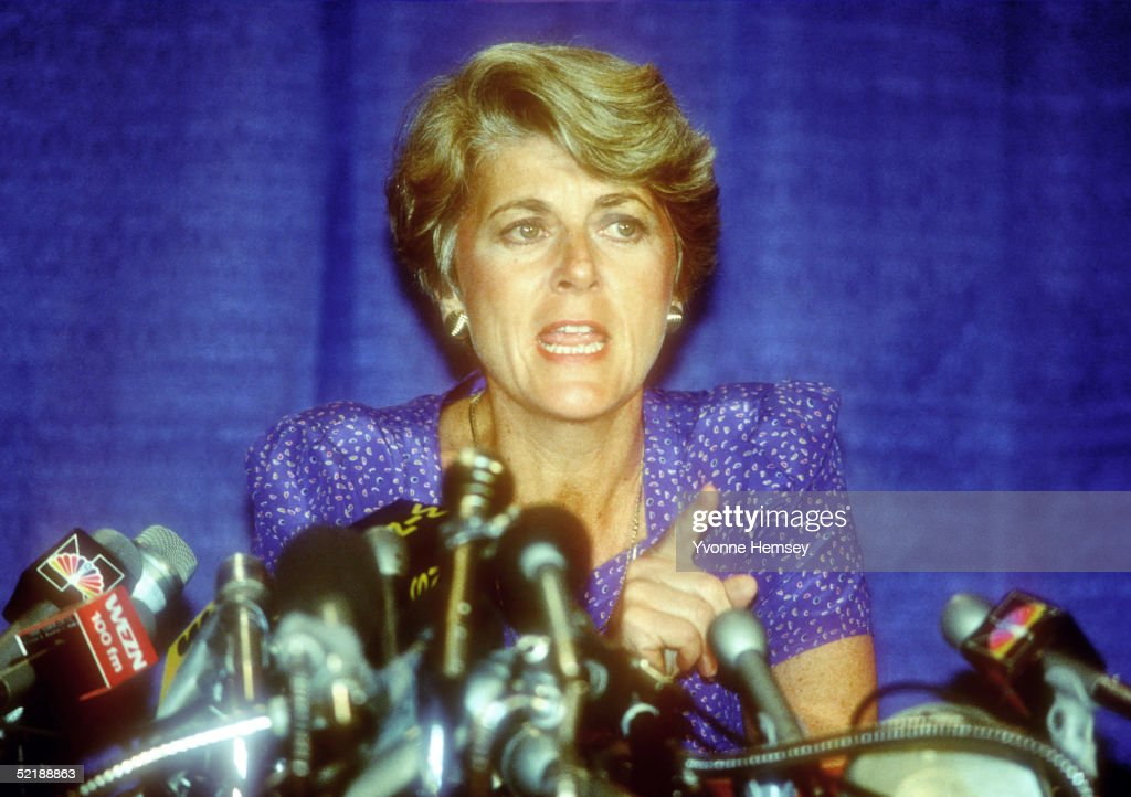 Geraldine Ferraro Holds Press Conference : News Photo