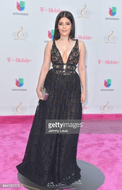Geraldine Galvan attends Univision's 29th Edition of Premio Lo Nuestro A La Musica Latina at the American Airlines Arena on February 23 2017 in Miami...
