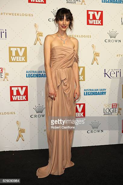 Geraldine Hakewill arrives at the 58th Annual Logie Awards at Crown Palladium on May 8 2016 in Melbourne Australia