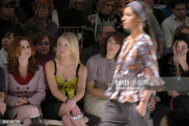 Geraldine Hughes Leven Rambin Illeana Douglas and Karen Duffy attend NANETTE LEPORE Fall 2007 Collection at The Promenade on February 5 2007 in New...