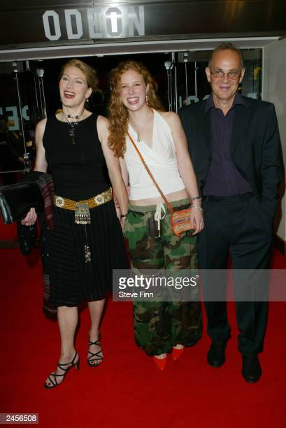 Geraldine James and family attend the gala premiere of Calendar Girls at the Odeon Leicester Square September 2 2003 in London United Kingdom