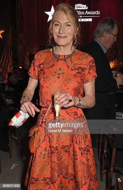 Geraldine James attends a champagne reception at the London Evening Standard British Film Awards at Television Centre on February 7 2016 in London...