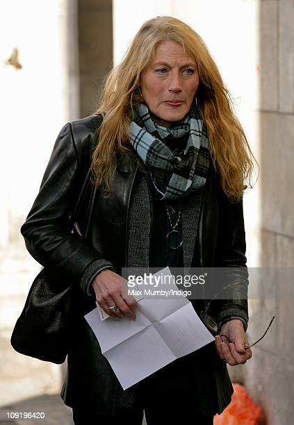 Geraldine James attends a memorial service for actor Pete Postlethwaite who died on January 2 at St Leonard's Church in Shoreditch on February 16...