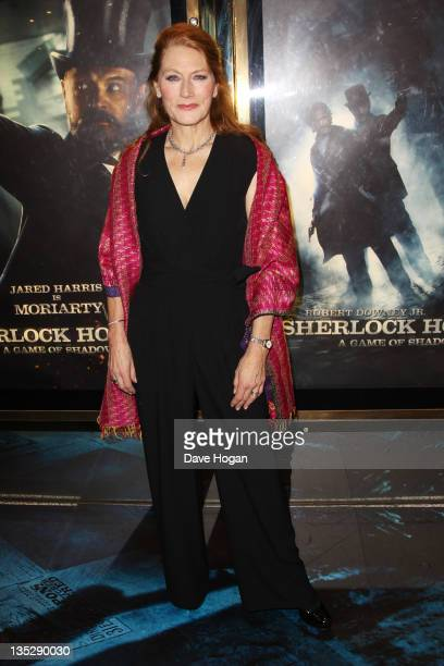 Geraldine James attends the European premiere of Sherlock Holmes A Game Of Shadows at The Empire Leicester Square on December 8 2011 in London United...