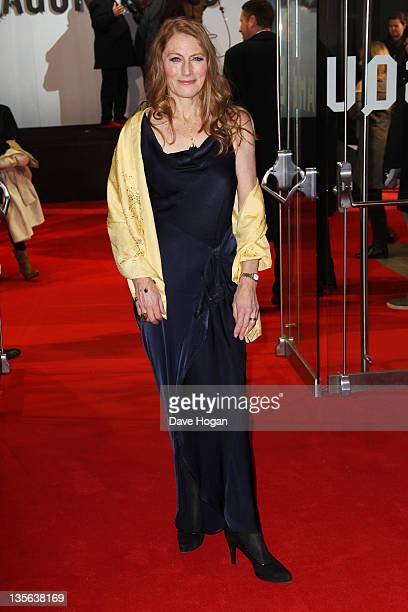 Geraldine James attends the world premiere of The Girl With The Dragon Tattoo at The Odeon Leicester Square on December 12 2011 in London United...