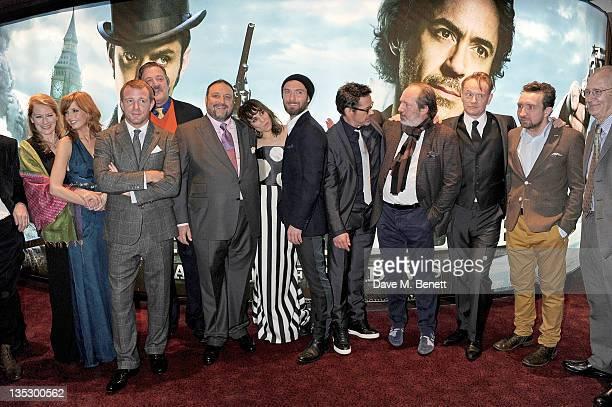Geraldine James Kelly Reilly Guy Ritchie Stephen Fry Joel Silver Noomi Rapace Jude Law Robert Downey Jr Hans Zimmer Jared Harris and Eddie Marsan...