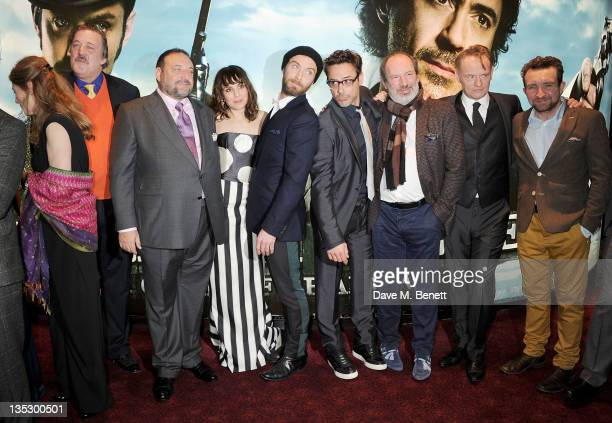 Geraldine James Stephen Fry Joel Silver Noomi Rapace Jude Law Robert Downey Jr Hans Zimmer Jared Harris and Eddie Marsan arrive at the European...