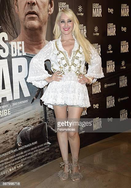 Geraldine Larrosa attends the 'Lejos del Mar' premiere at Palafox cinema on August 30 2016 in Madrid Spain