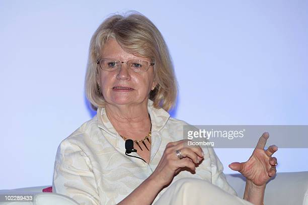 Geraldine Laybourne former chairman and chief executive officer of Oxygen Media LLC speaks at the Dell Women's Entrepreneur Network conference in...