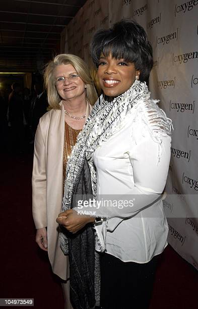 Geraldine Laybourne Oxygen Media Chairman CEO and Founder and Oprah Winfrey