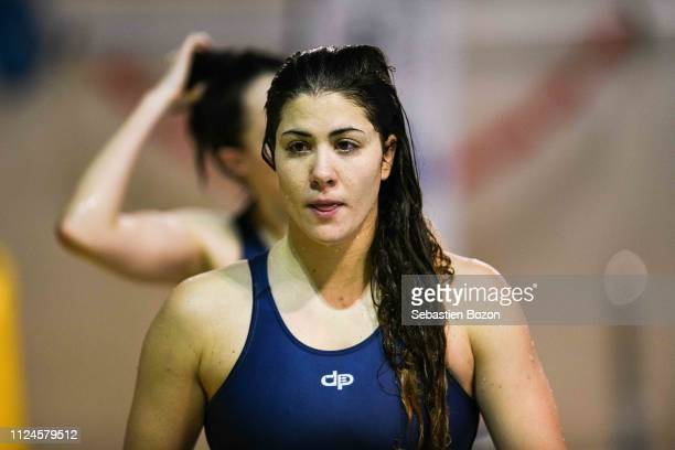 Geraldine Mahieu of France during the Women's International Match Water Polo match between France and Italy on February 12 2019 in Mulhouse France