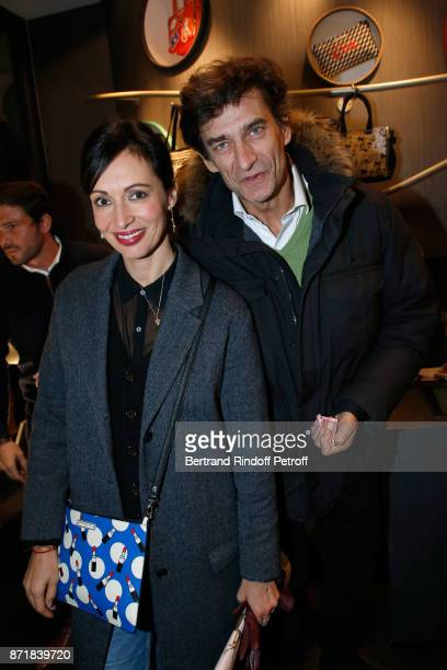 Geraldine Maillet and Eric Altmayer attend Reem Kherici signs her book 'Diva' at the Barbara Rihl Boutique on November 8 2017 in Paris France