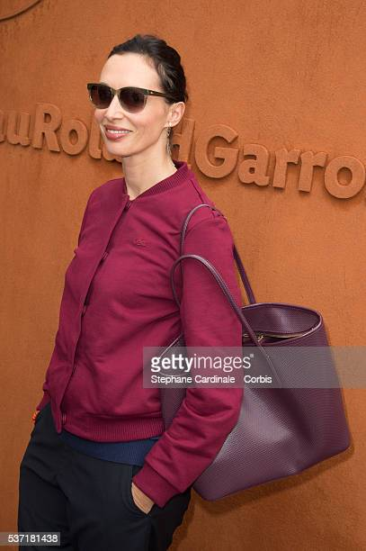 Geraldine Maillet attends day eleven of the 2016 French Open at Roland Garros on June 1 2016 in Paris France