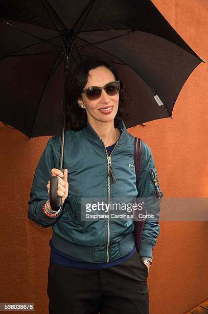 Geraldine Maillet attends day ten of the 2016 French Open at Roland Garros on May 31 2016 in Paris France