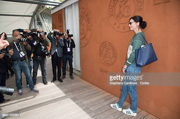 Geraldine Maillet attends the 2015 Roland Garros French Tennis Open Day Six on May 26 2015 in Paris France