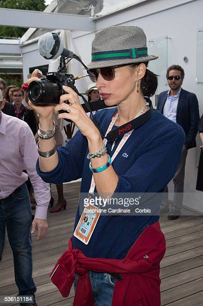 Geraldine Maillet attends the 2015 Roland Garros French Tennis Open Day Seven on May 30 2015 in Paris France