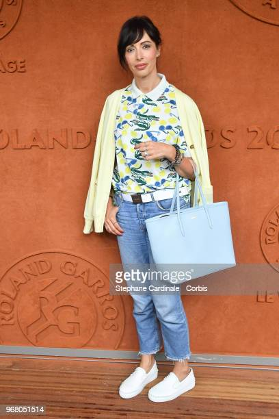 Geraldine Maillet attends the 2018 French Open - Day Ten at Roland Garros on June 5, 2018 in Paris, France.