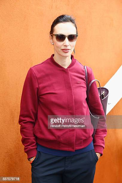 Geraldine Maillet attends the French Tennis Open at Roland Garros on June 1 2016 in Paris France