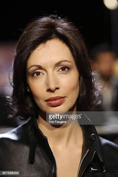 Geraldine Maillet on the set of TV show 'Au Field de la Nuit'