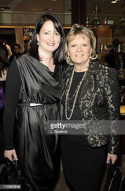 Geraldine Moralie and Mary Gleason during the In Store event with BET Network Honoring Lisa Ellis hosted by Judith Leiber at the Judith Leiber Store...