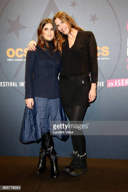 Geraldine Nakache and Charlotte Gabris attend Opening Ceremony during the 21st L'Alpe D'Huez Comedy Film Festival on January 16 2018 in Alpe d'Huez...